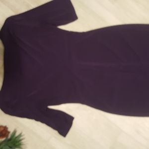 Plum, mid sleeve dress